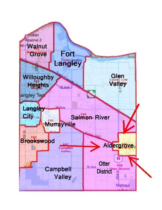 Map of Aldergrove Location